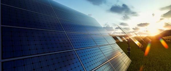 Solar Panel Arrays In A Field)
