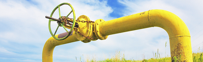 Natural Gas Line in a field)