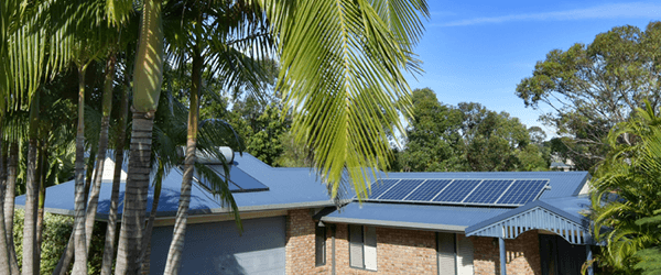 Home in California compliant with solar panel mandate