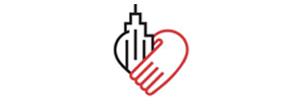Hand & Building heart icon