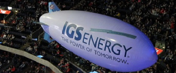 IGS Energy Blimp at Columbus Blue Jackets Game