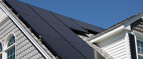 Solar Panels on a residential home