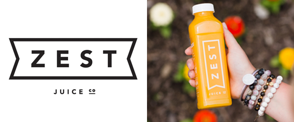 Zest Juice Bottle and Logo