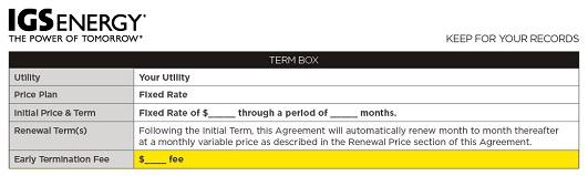 Sample IGS Energy contract