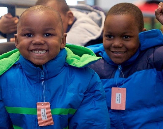 Children in Operation Warm coats
