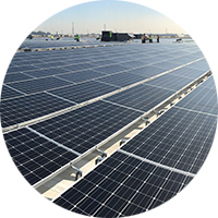 circular image of Commercial solar array