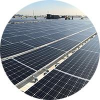 circular image of Commercial solar array