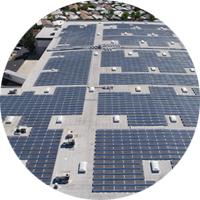 Overhead commercial solar array