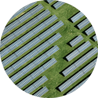 Overhead of commercial solar