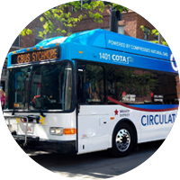 CNG Powered Bus