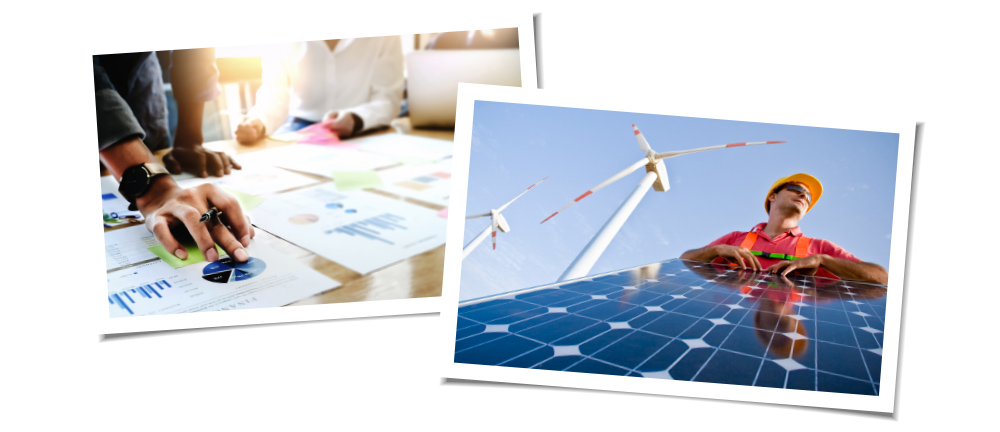Side by side photos of IGS Commercial Solar