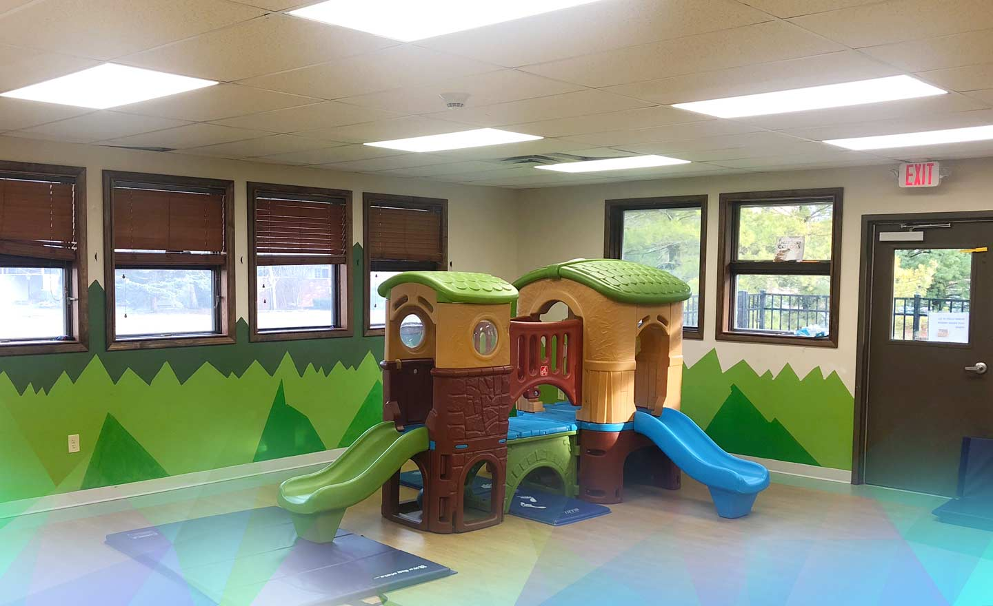 Playset at a daycare