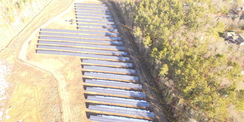 Overhead shot of Ground Mounted Solar Array