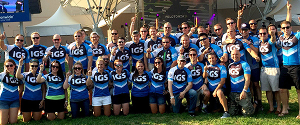 IGS Energy Employees Riding in Pelotonia