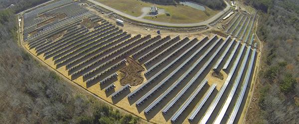 Madison Electric Solar Array Aerial
