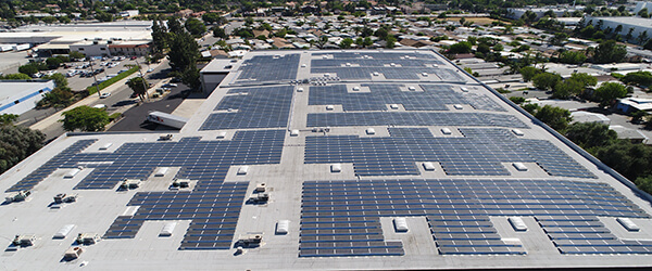LADWP Rooftop Solar Panel Array Site