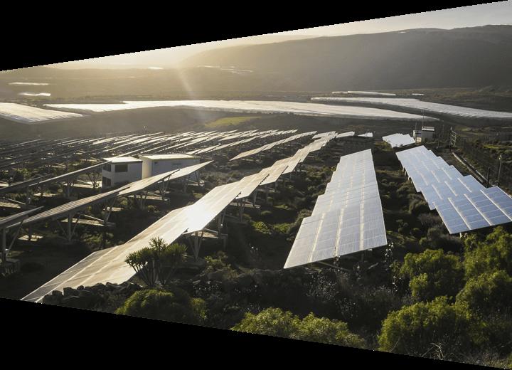 Large-scale solar panel installation