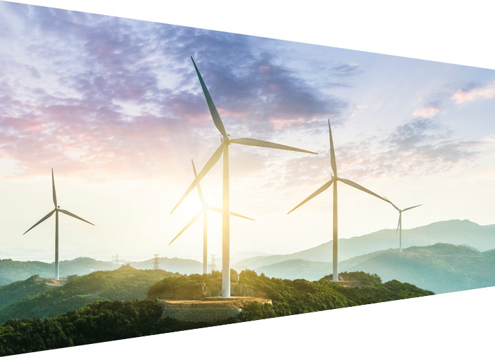 Mountain top windmills